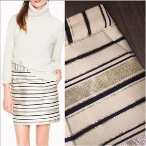 J.Crew Shimmer Striped Skirt